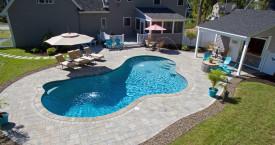 Freeform Gunite Pool with Paver Patio
