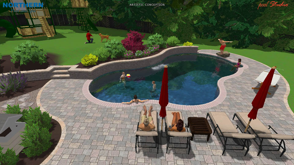 3d swimming pool designs northern pool spa me nh ma for 3d swimming pool design