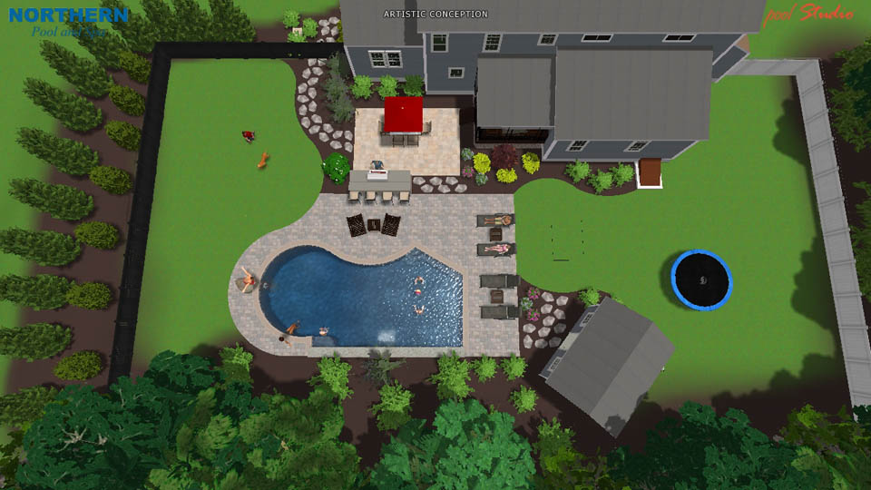 3d swimming pool designs northern pool spa me nh ma for Adara salon durham nh