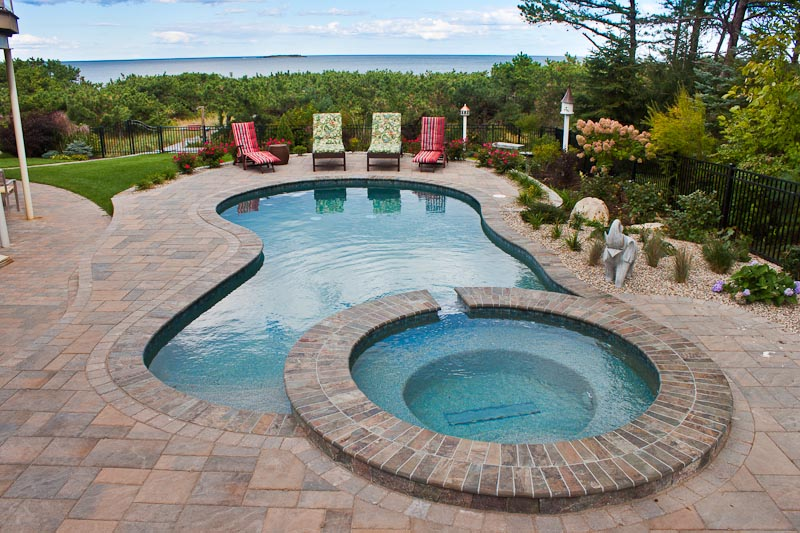 gunite pools vinyl liner pools inground swimming pools northern pool spa me nh ma - Swimming Pool And Spa Design