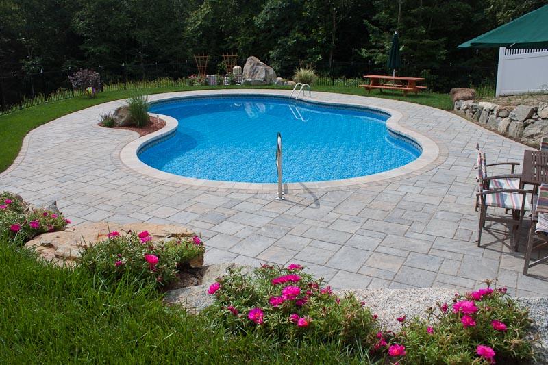 Gunite pools vinyl liner pools inground swimming pools for Vinyl inground pool