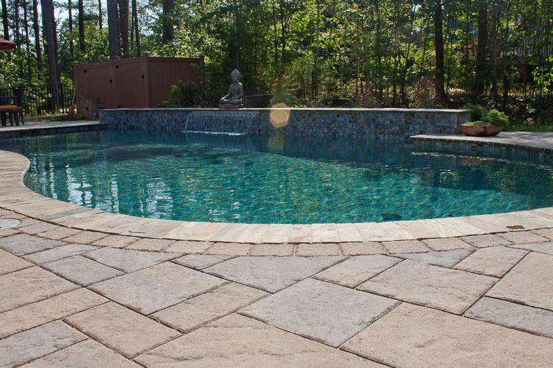Interesting 70 concrete paver pool deck design ideas of Flagstone pavers around pool